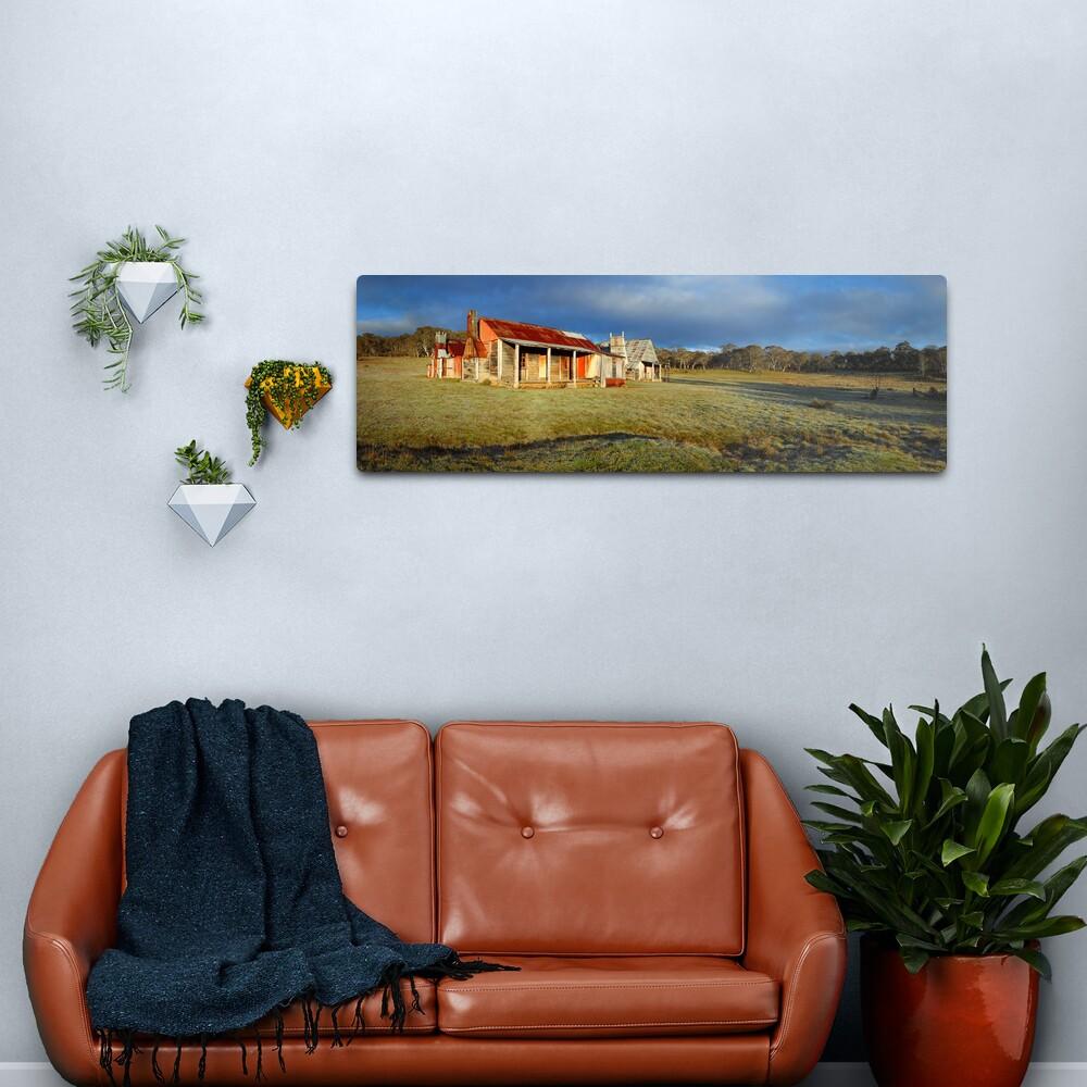 Morning Light finds Coolamine Homestead, Kosciuszko National Park, New South Wales, Australia Metal Print