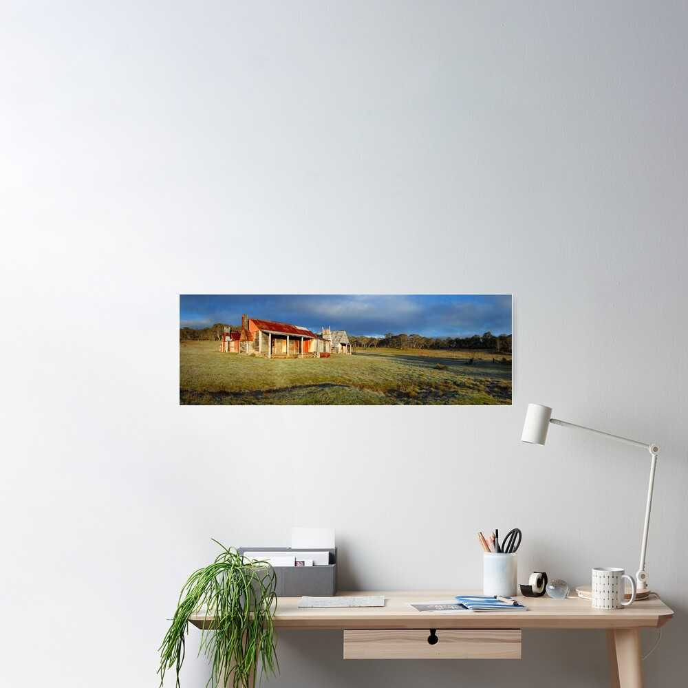 Morning Light finds Coolamine Homestead, Kosciuszko National Park, New South Wales, Australia Poster