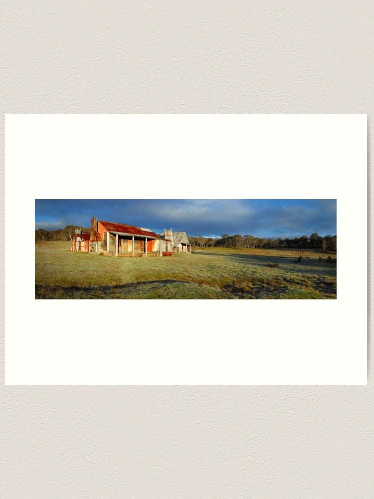 Alternate view of Morning Light finds Coolamine Homestead, Kosciuszko National Park, New South Wales, Australia Art Print