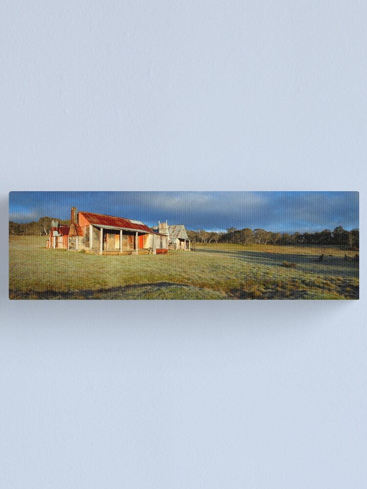 Alternate view of Morning Light finds Coolamine Homestead, Kosciuszko National Park, New South Wales, Australia Canvas Print