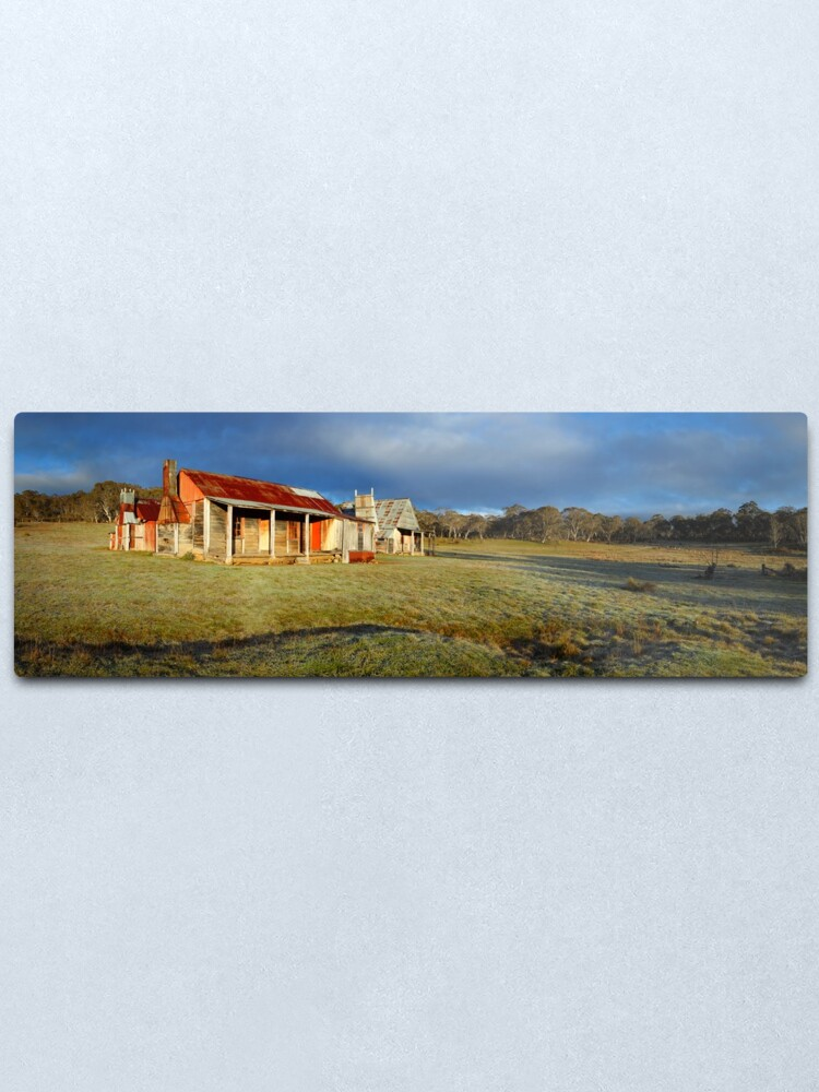 Alternate view of Morning Light finds Coolamine Homestead, Kosciuszko National Park, New South Wales, Australia Metal Print