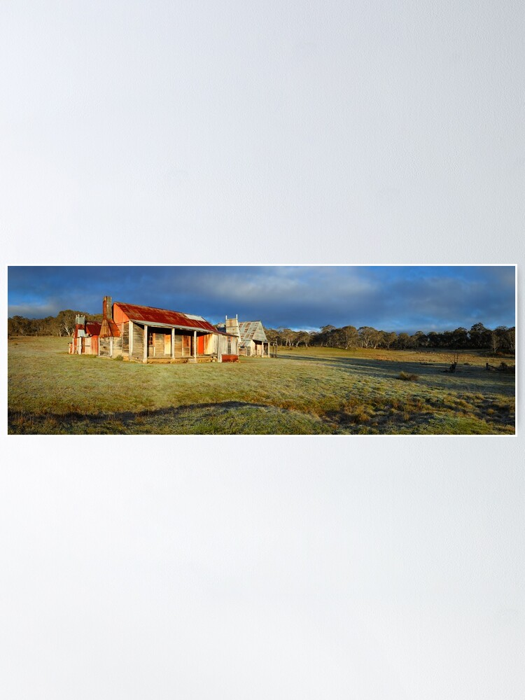 Alternate view of Morning Light finds Coolamine Homestead, Kosciuszko National Park, New South Wales, Australia Poster