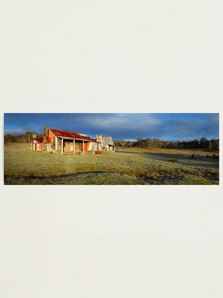 Alternate view of Morning Light finds Coolamine Homestead, Kosciuszko National Park, New South Wales, Australia Photographic Print