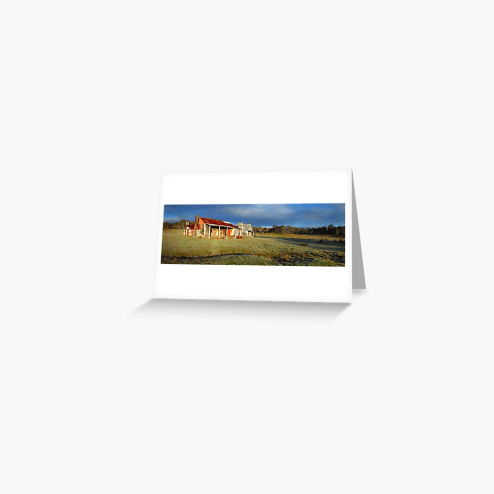 Morning Light finds Coolamine Homestead, Kosciuszko National Park, New South Wales, Australia Greeting Card