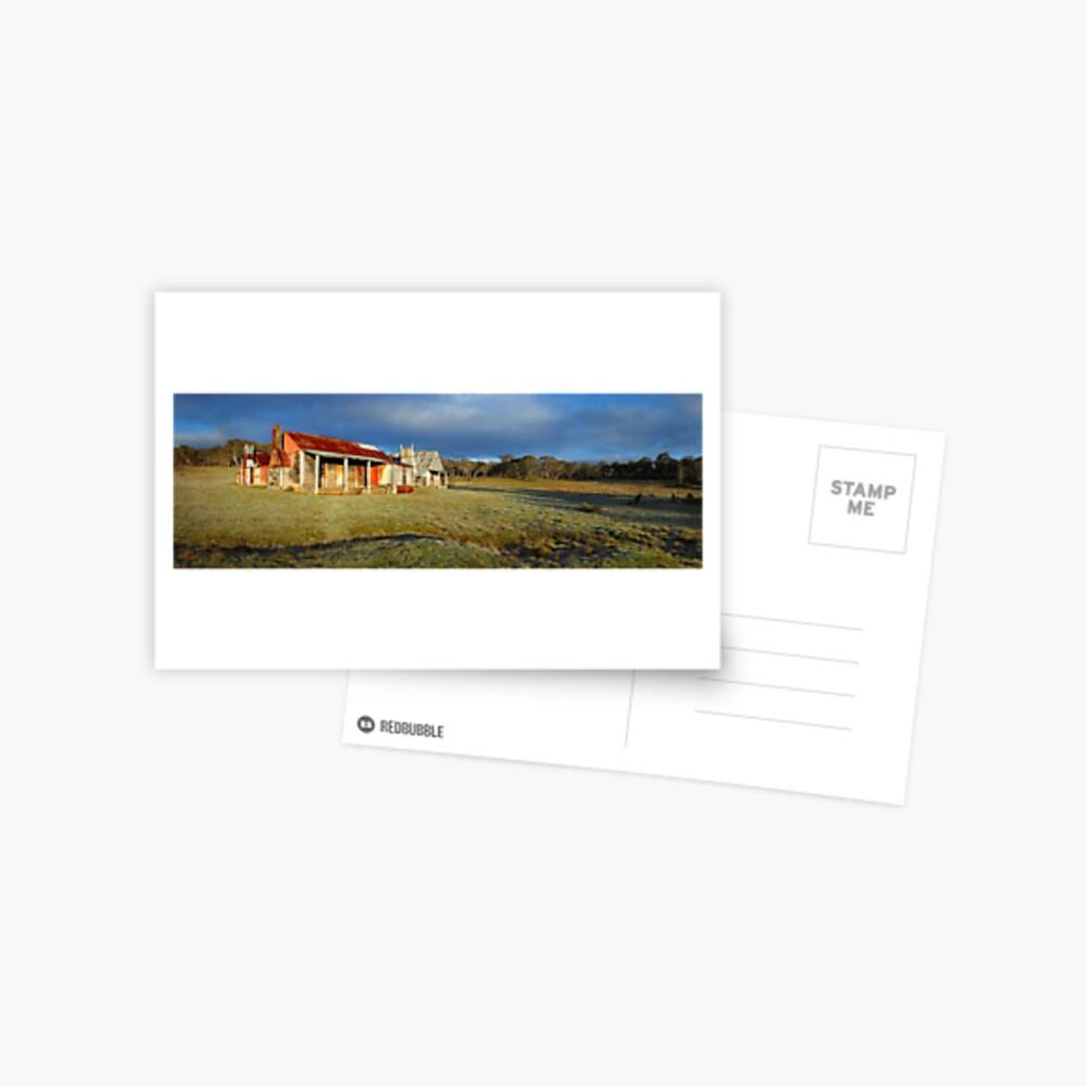 Morning Light finds Coolamine Homestead, Kosciuszko National Park, New South Wales, Australia Postcard