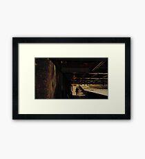 Through the bridge. Framed Print