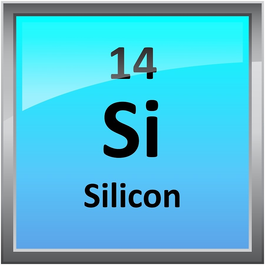 Silicon element tile periodic table acrylic blocks by silicon element tile periodic table biocorpaavc Image collections