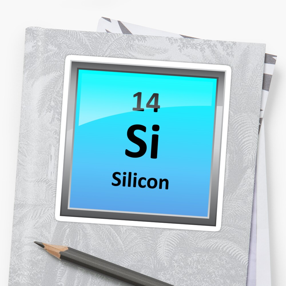 Silicon element tile periodic table stickers by sciencenotes silicon element tile periodic table by sciencenotes biocorpaavc Gallery