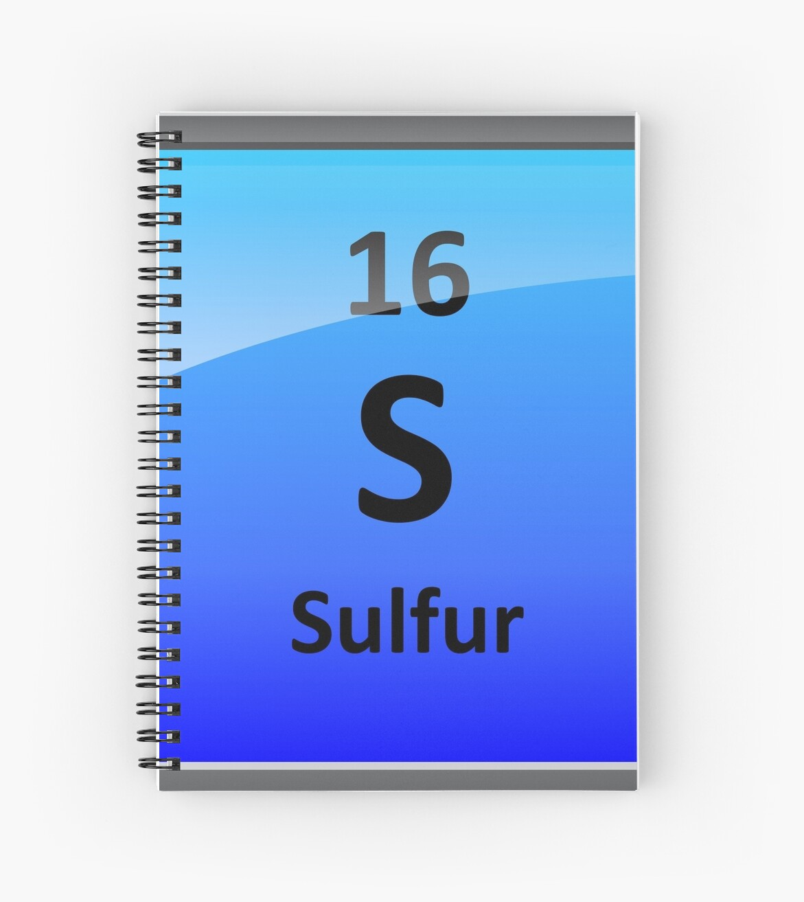 Sulfur Element Tile Periodic Table Spiral Notebooks By