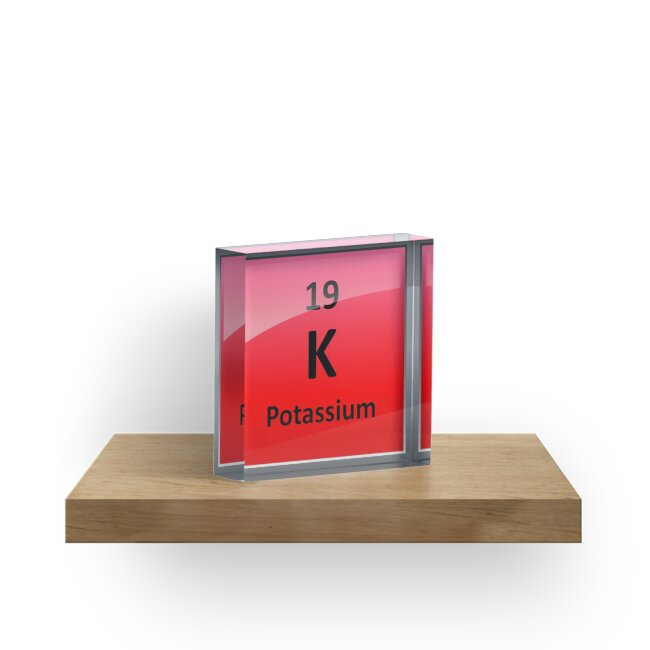 Potassium K Periodic Table Element Symbol Acrylic Blocks By