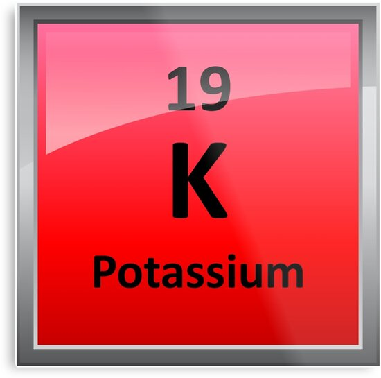 Potassium k periodic table element symbol metal prints by potassium k periodic table element symbol by sciencenotes urtaz Images