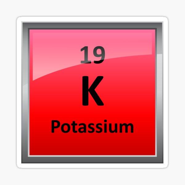 Potassium - K - Periodic Table Element Symbol Sticker