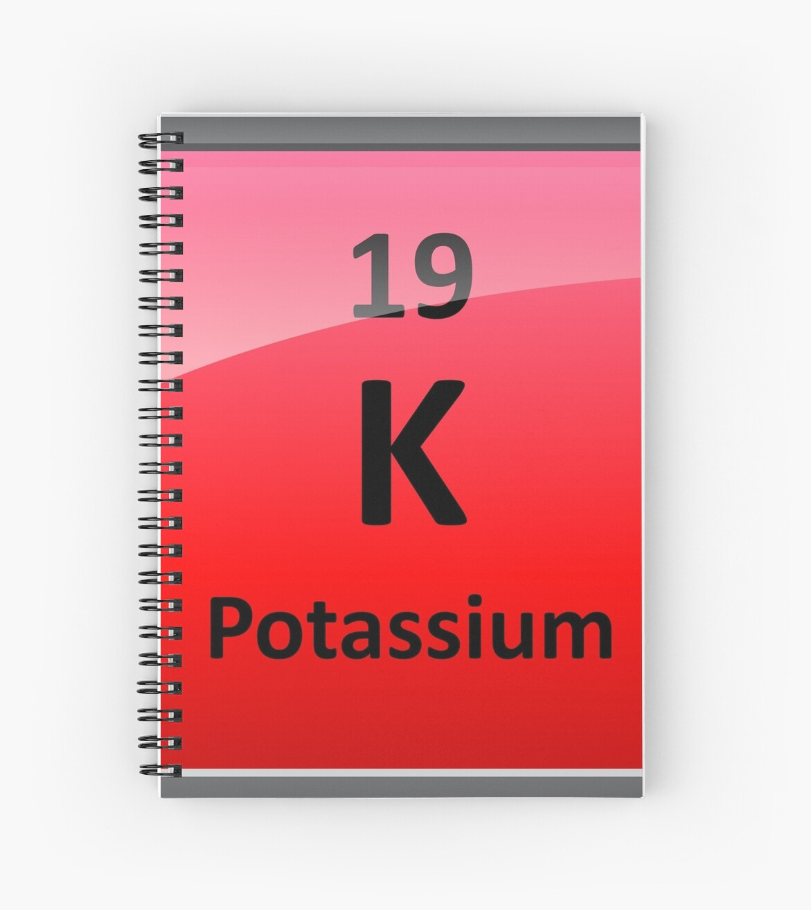 Potassium K Periodic Table Element Symbol Spiral Notebooks By