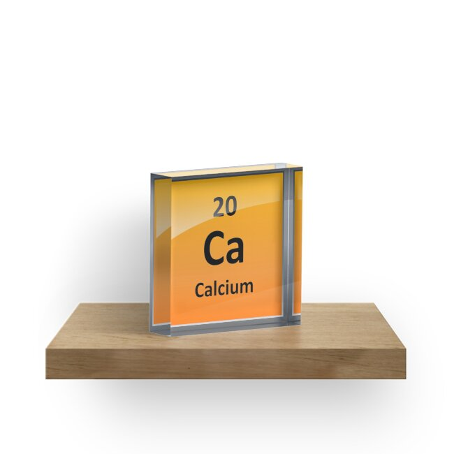 Calcium Element Symbol Periodic Table Acrylic Blocks By