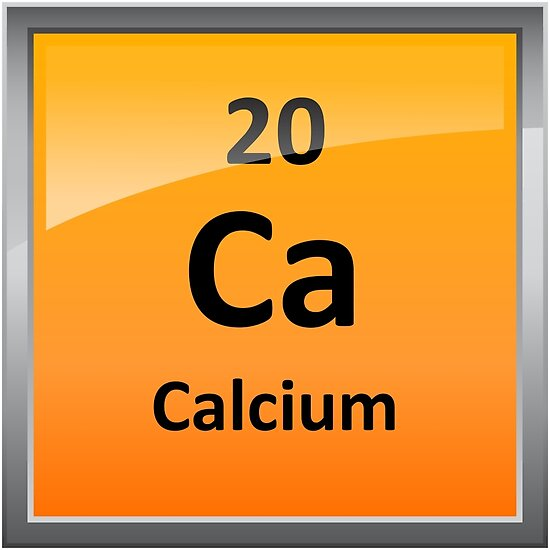 Calcium Element Symbol Periodic Table Posters By Sciencenotes
