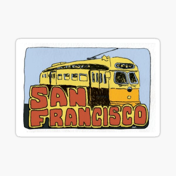 Travel sticker: San Francisco Street car Sticker