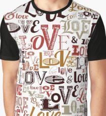 Vintage Love Typography  Graphic T-Shirt