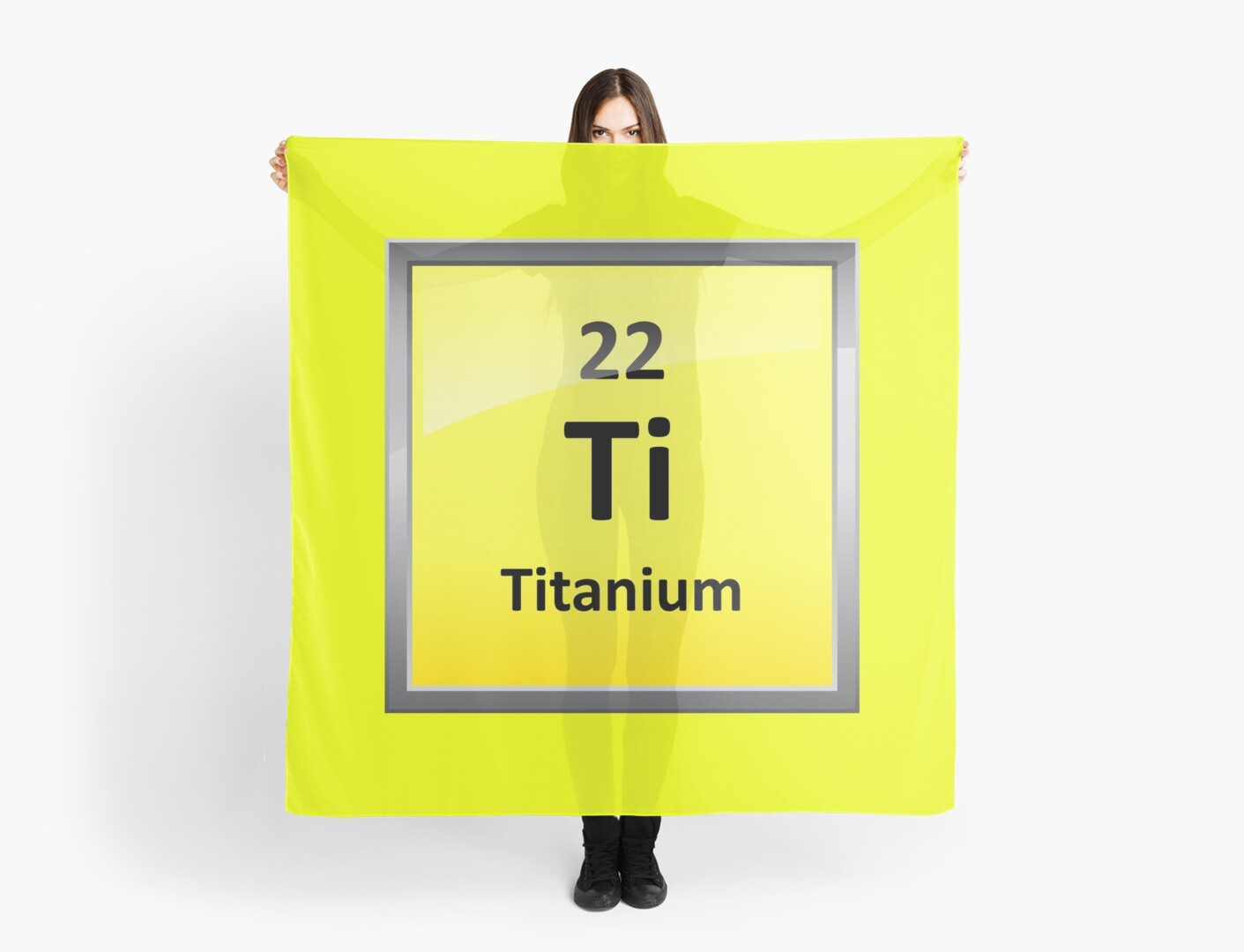 Titanium Element Symbol Periodic Table Scarves By Sciencenotes