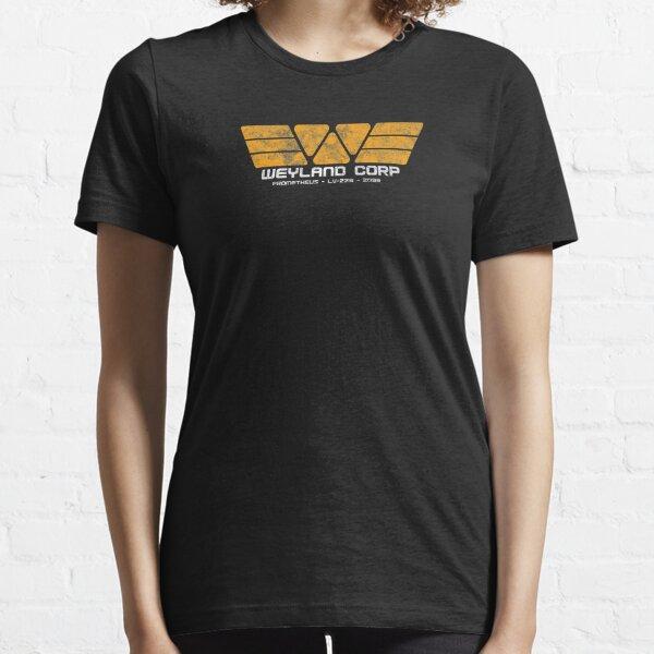 Alien 1979 Sci-Fi Horror Movie Weyland-Yutani Corp Logo  Women/'s T-Shirt
