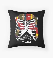 My Hearts Beat For You - 4th Dr Throw Pillow