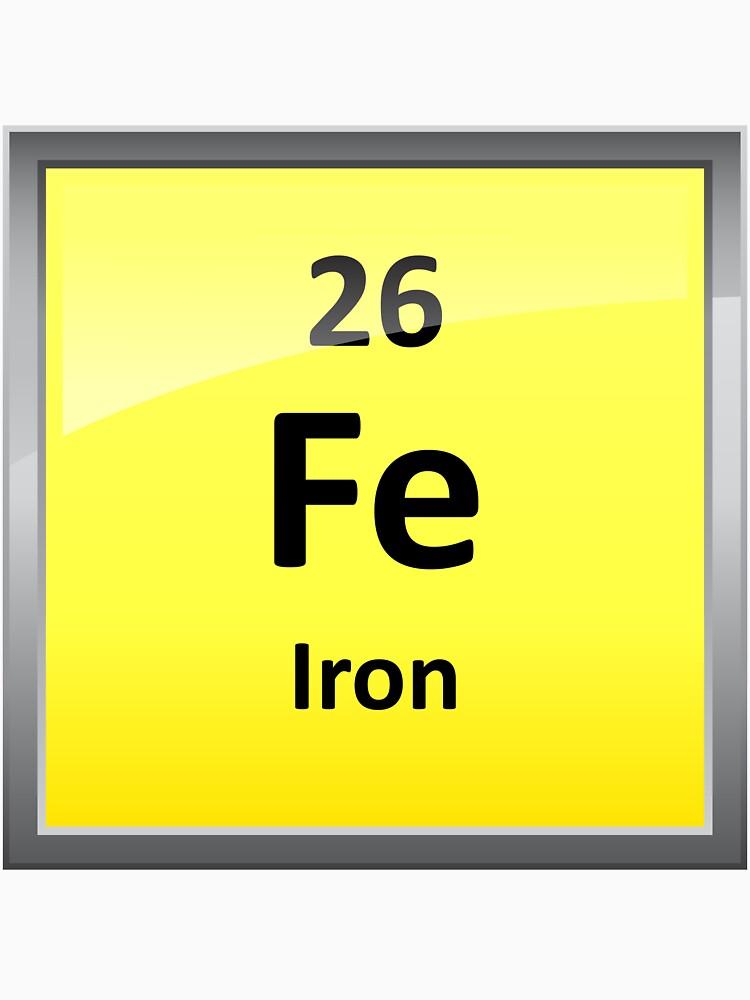 Iron element symbol periodic table classic t shirt by iron element symbol periodic table by sciencenotes urtaz Images