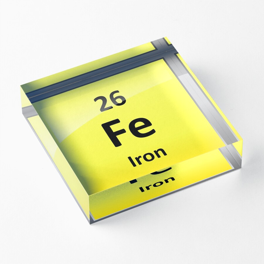 Iron symbol in periodic table image collections periodic table periodic table symbol for iron images periodic table images iron element symbol periodic table acrylic blocks gamestrikefo Images