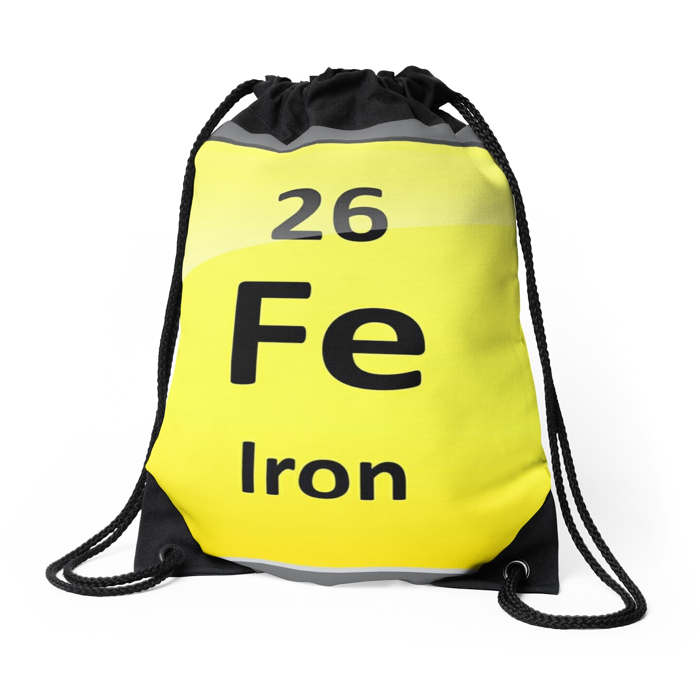 Iron element symbol periodic table drawstring bags by iron element symbol periodic table by sciencenotes gamestrikefo Image collections