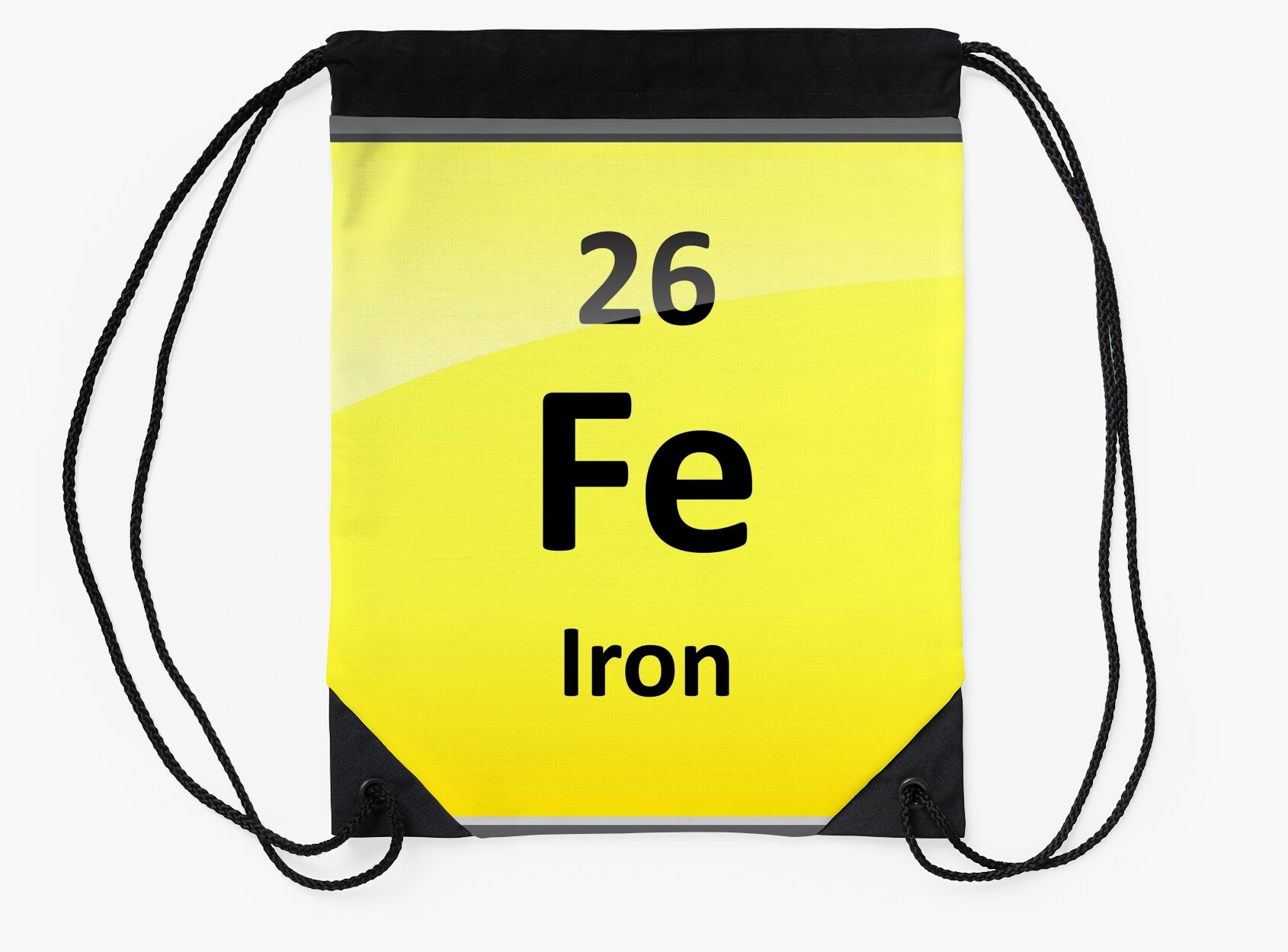 Iron element symbol periodic table drawstring bags by iron element symbol periodic table gamestrikefo Image collections
