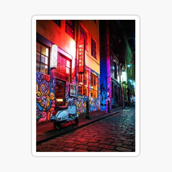 Evening in Hosier Lane Sticker