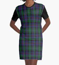 01878 Campbell of Cawdor Clan/Family Tartan Graphic T-Shirt Dress