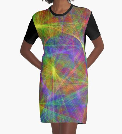 Disco stage lights Graphic T-Shirt Dress