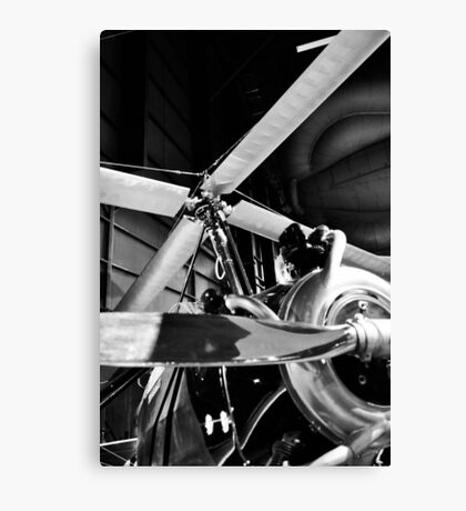 Black and White Silver Propellers  Canvas Print