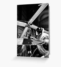 Black and White Silver Propellers  Greeting Card