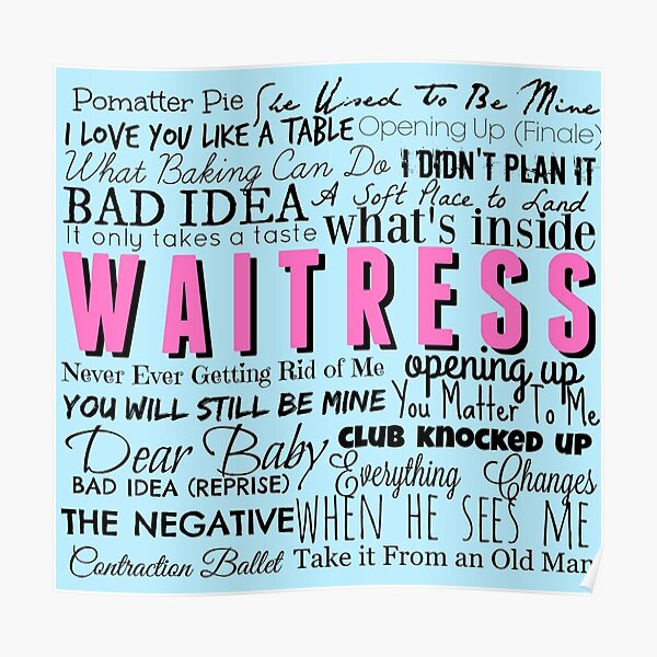 Waitress Original Cast Recording Poster