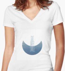 Salt Water Smile Women's Fitted V-Neck T-Shirt