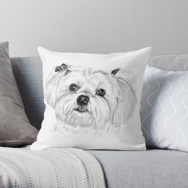 Beau the Maltese Terrier Throw Pillow