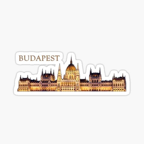 Budapest Travel Souvenir Sticker