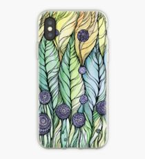 Dandelions.Hand draw  ink and pen, Watercolor, on textured paper iPhone Case