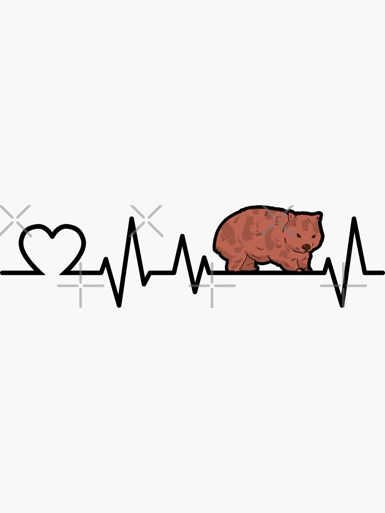 Wombat heartbeat marsupial Australia gift by madgrfx