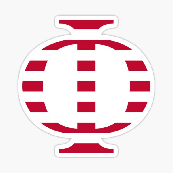 Stripes Phi Sticker