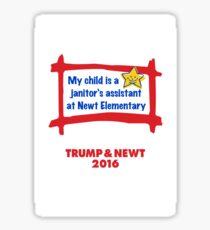 Proud Parent USA. Trump & Newt 2016 Sticker