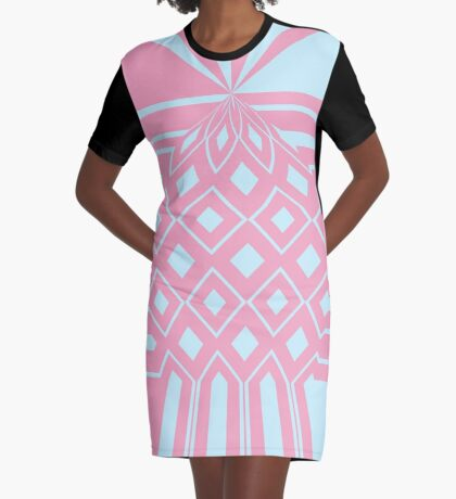 Drawing Up Diamonds Graphic T-Shirt Dress