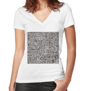 Chemical Elements Shirt mit V-Ausschnitt