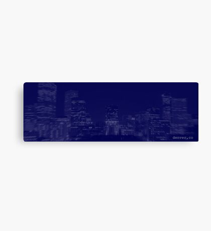 Denver @ Dusk Canvas Print