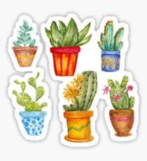 Watercolor cactus set Sticker