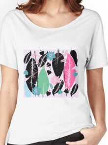 feather  T-shirt femme coupe relax