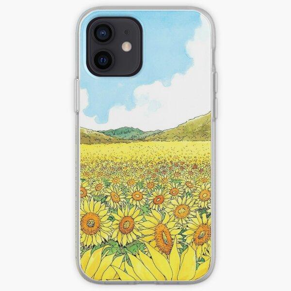 takashi sun flower iPhone Soft Case