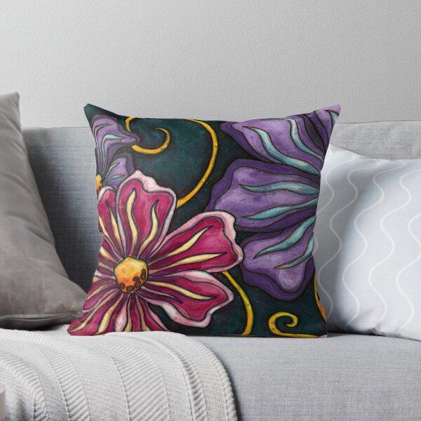 Grandes fleurs violettes Coussin