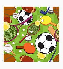 Sport ball seamless pattern Photographic Print
