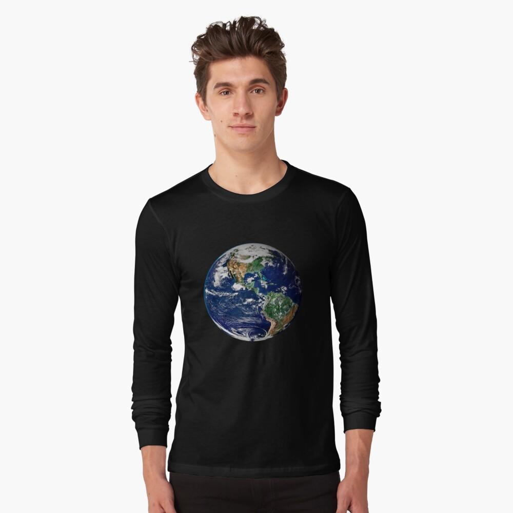Erde aus dem Weltraum Langarmshirt